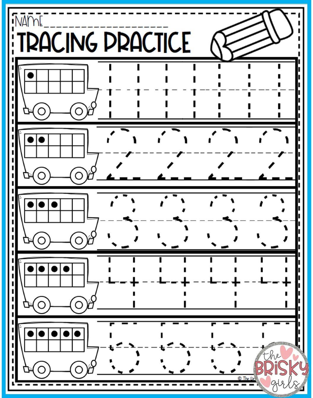 Back To School Kindergarten Math Numbers 0 20