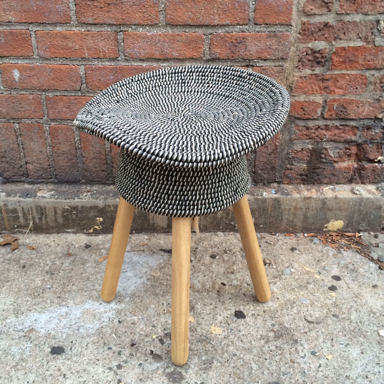 COILED STOOL NAVY