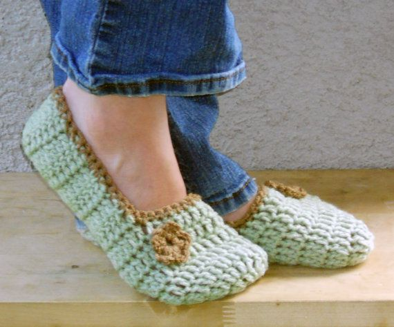 cozy house slippers booties shoes socks in light by ValkinThreads, $16.00