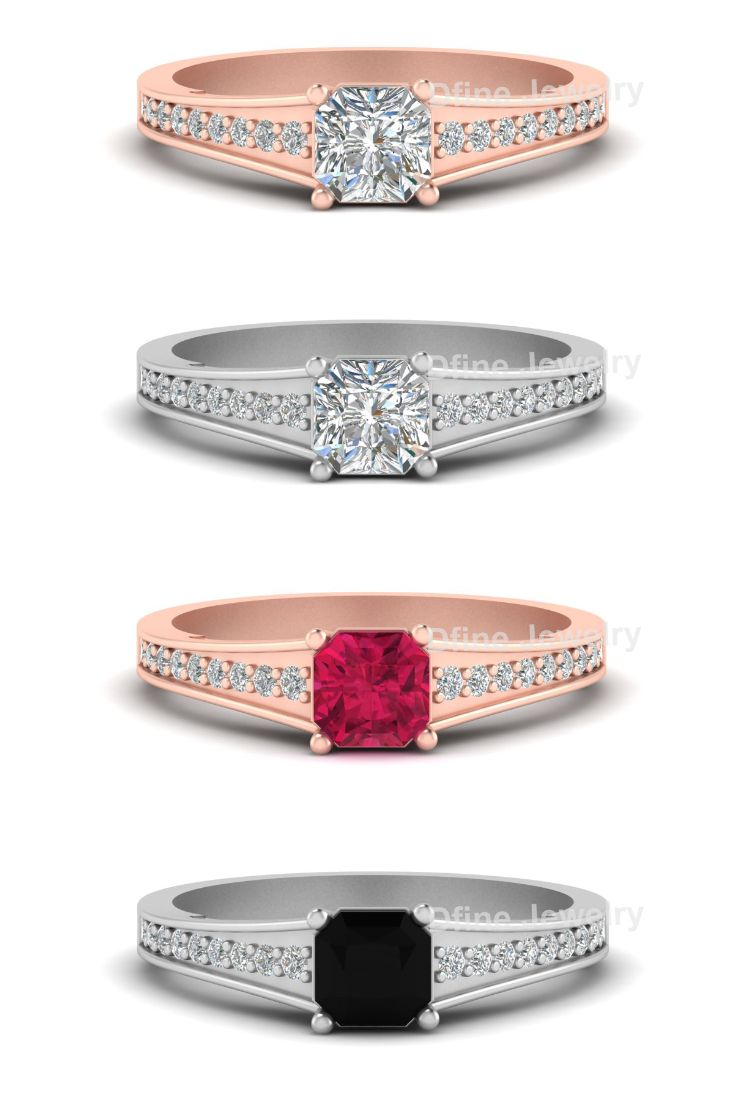 Radiant diamond bridal ring cute pinterest bridal