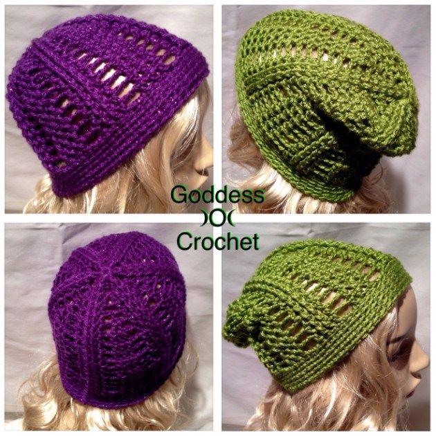 Free Crochet Pattern - Saturday Night Slouch Beanie | Loom Knit ...