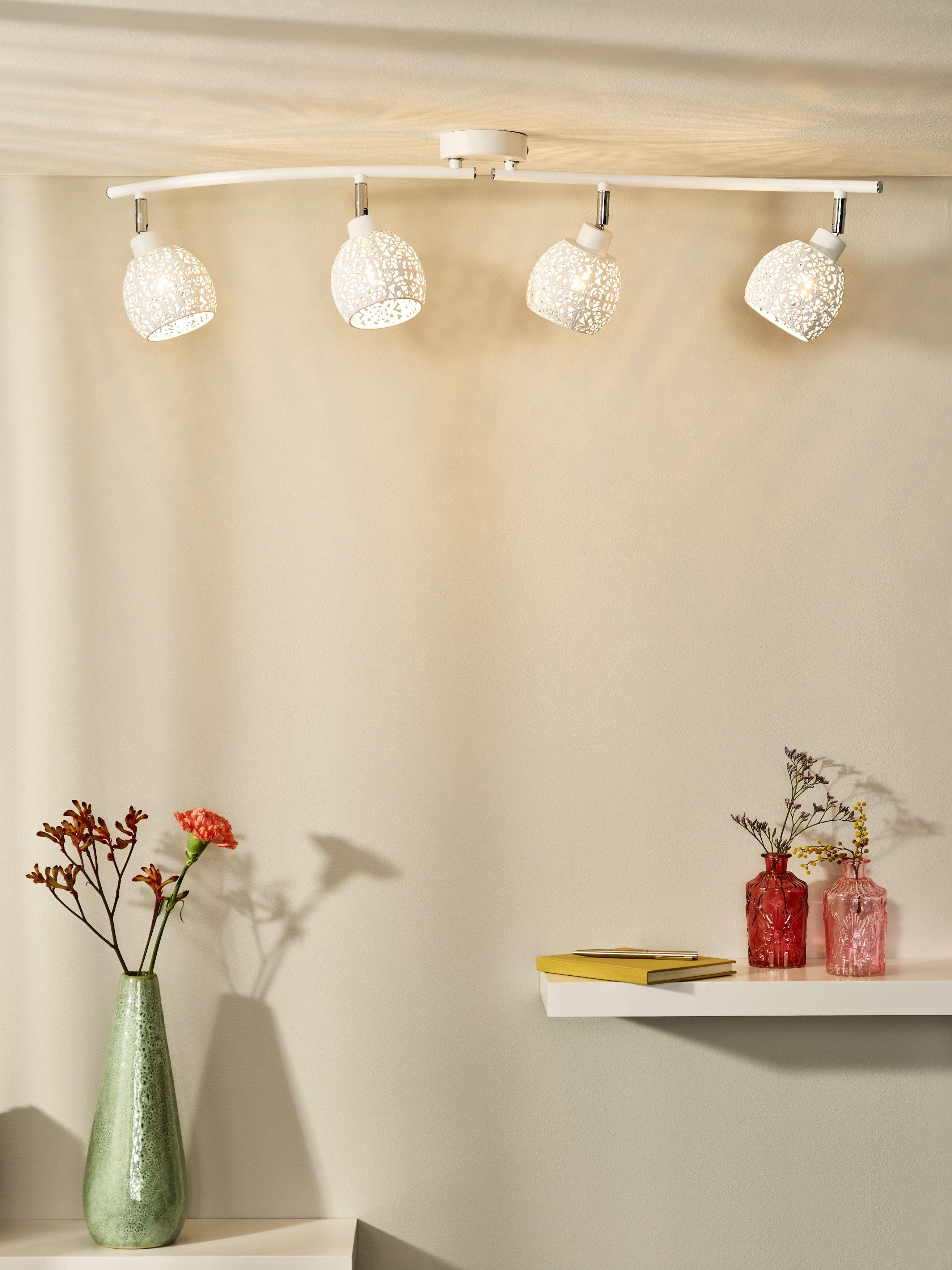 Lucide Tahar Spot Plafond O 9 Cm 4xg9 Blanc Plafondlamp Lampen Vintage