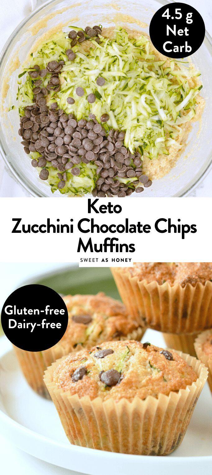 Keto zucchini muffins almond flour muffins - Sweetashoney