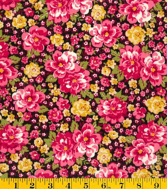 Premium Cotton Fabric-Mia Main Floral Pink   Joann Fabric