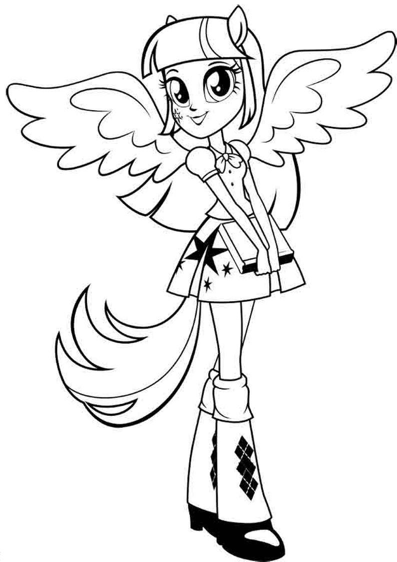 Kolorowanka Twilight Sparkle Equestria Girls Malowanka Do Wydruku