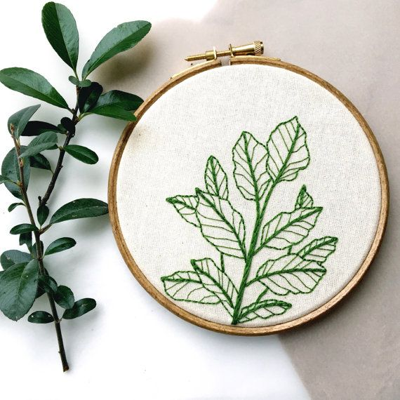 Botanical Plant, 6 Hand Embroidery Hoop Art #embroidery