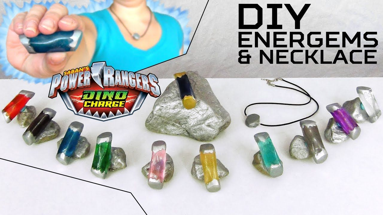 How To Make Power Rangers Dino Super Charge Energems And Necklace Diy Your Own Han Power Ranger Birthday Power Rangers Dino Charge Power Ranger Birthday Party