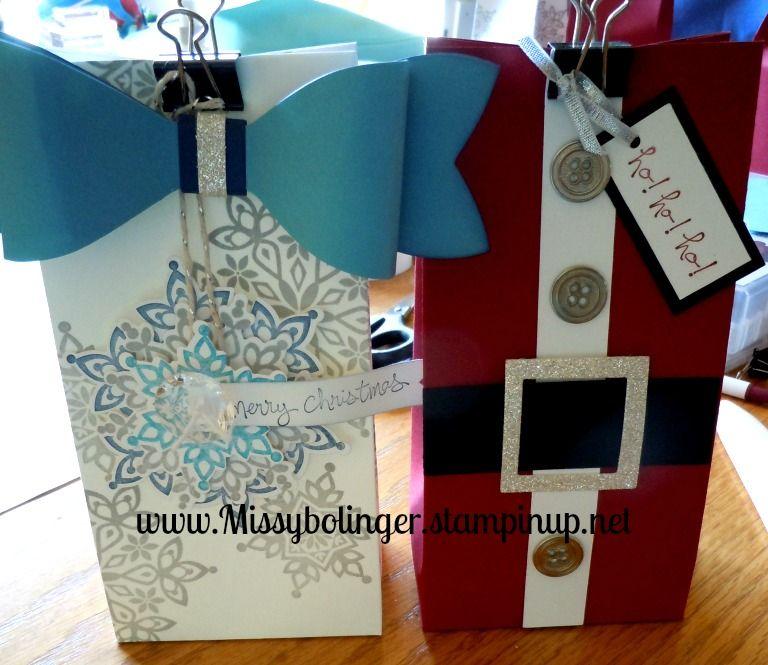 Creative Blessings - Melissa Bolinger  #giftbags, #santa, #snowflakes, #Festiveflurries, #Goodgreetings, #stampinup