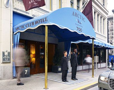 The Arctic Club, built in 1916 as a gentleman's club for Gold Rush adventurers, is now the 120 boutique hotel The Arctic Club Hotel