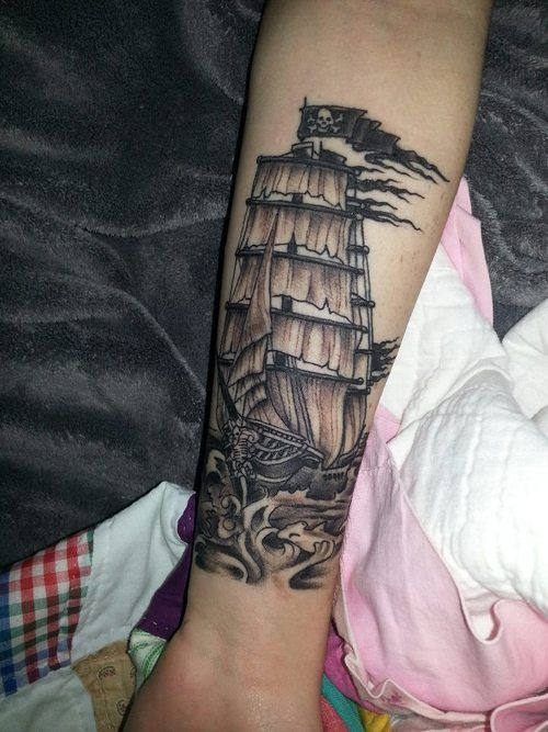 My Pirate Ship Tattoo that was done by Hold Fast Tattoo's ...