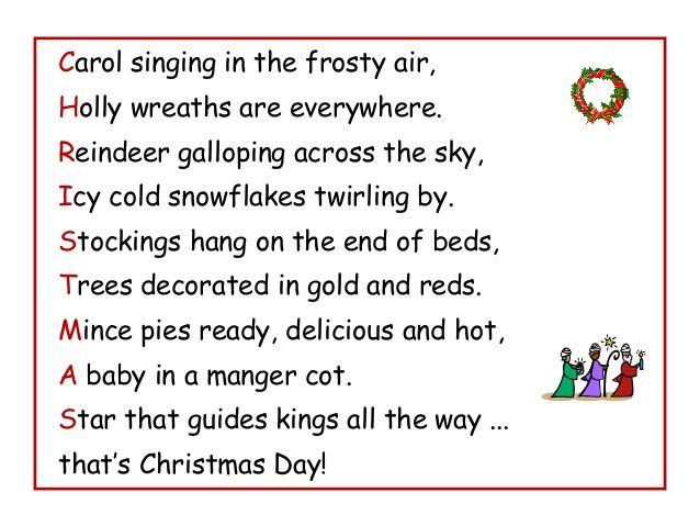 Christmas Acrostic Poem Google Search Christmas Poetry Lessons Christmas Poetry Acrostic Poem For Kids
