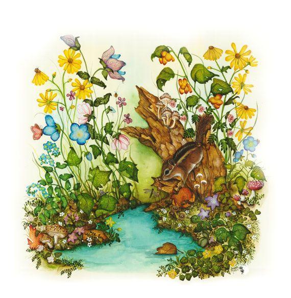 Bird Art Print Watercolor Art Print Childs Room by DonnaMariesArt, $15.00