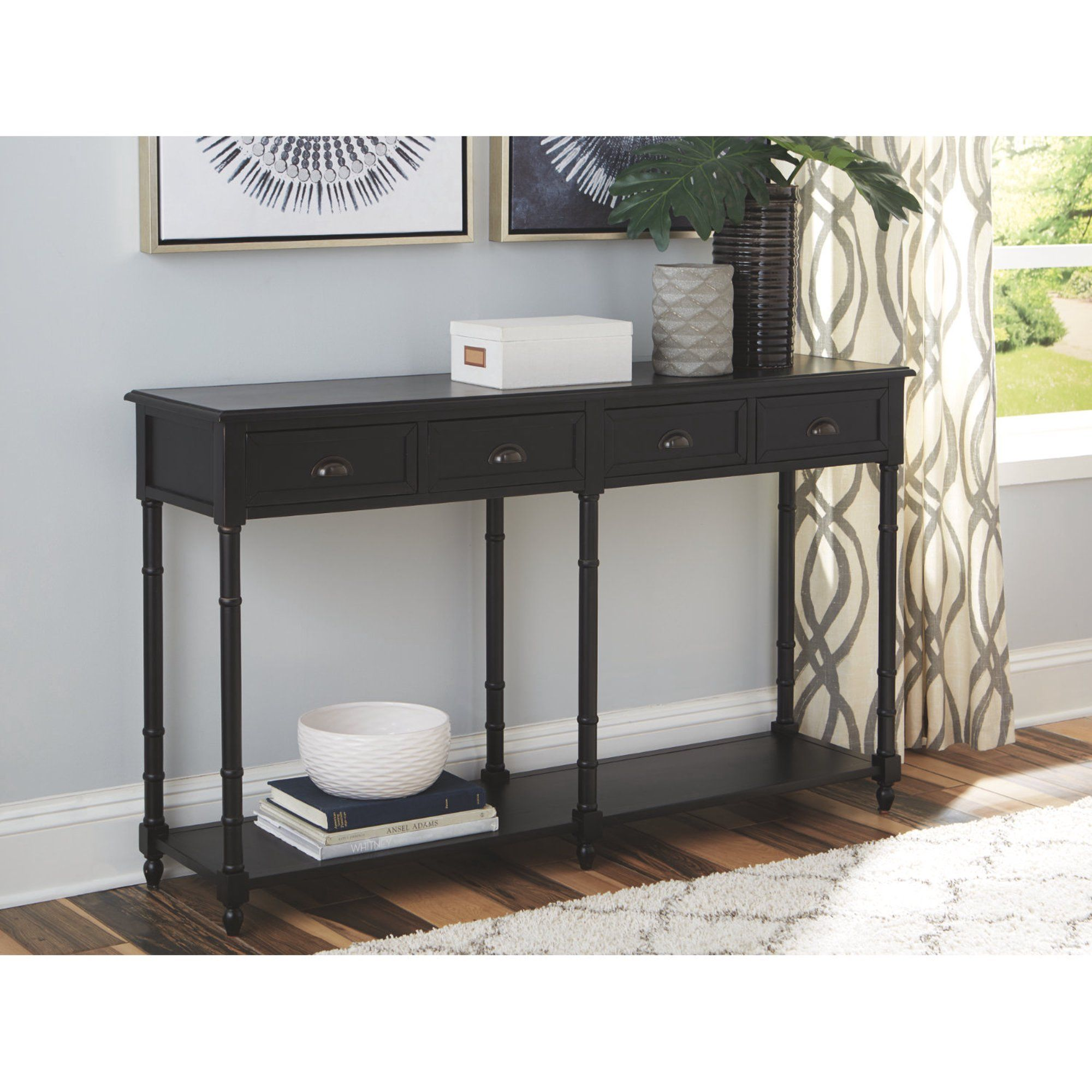 Home In 2020 Black Sofa Table Black Console Table Sofa Table