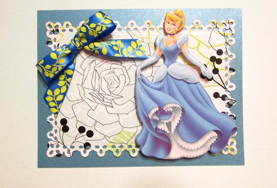 Disney Princess Cinderella Birthday Cards Princess Birthday Etsy Disney Princess Cinderella Cinderella Birthday Princess Card