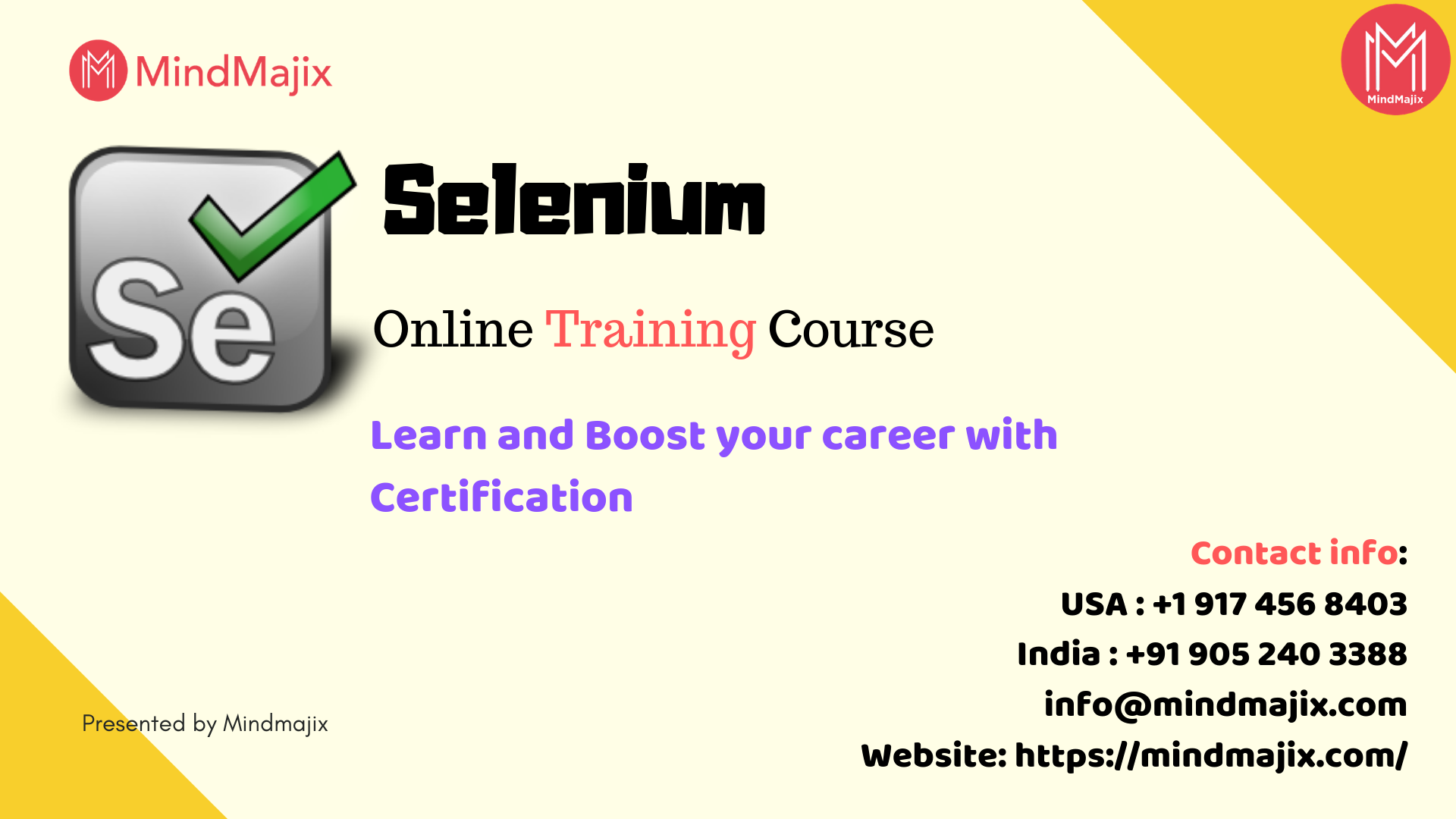 Learn Selenium Online Training Course Mindmajix Online