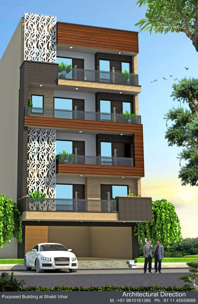 Elevations 16 project in delhi architectural direction - Exterior designs of houses in india ...
