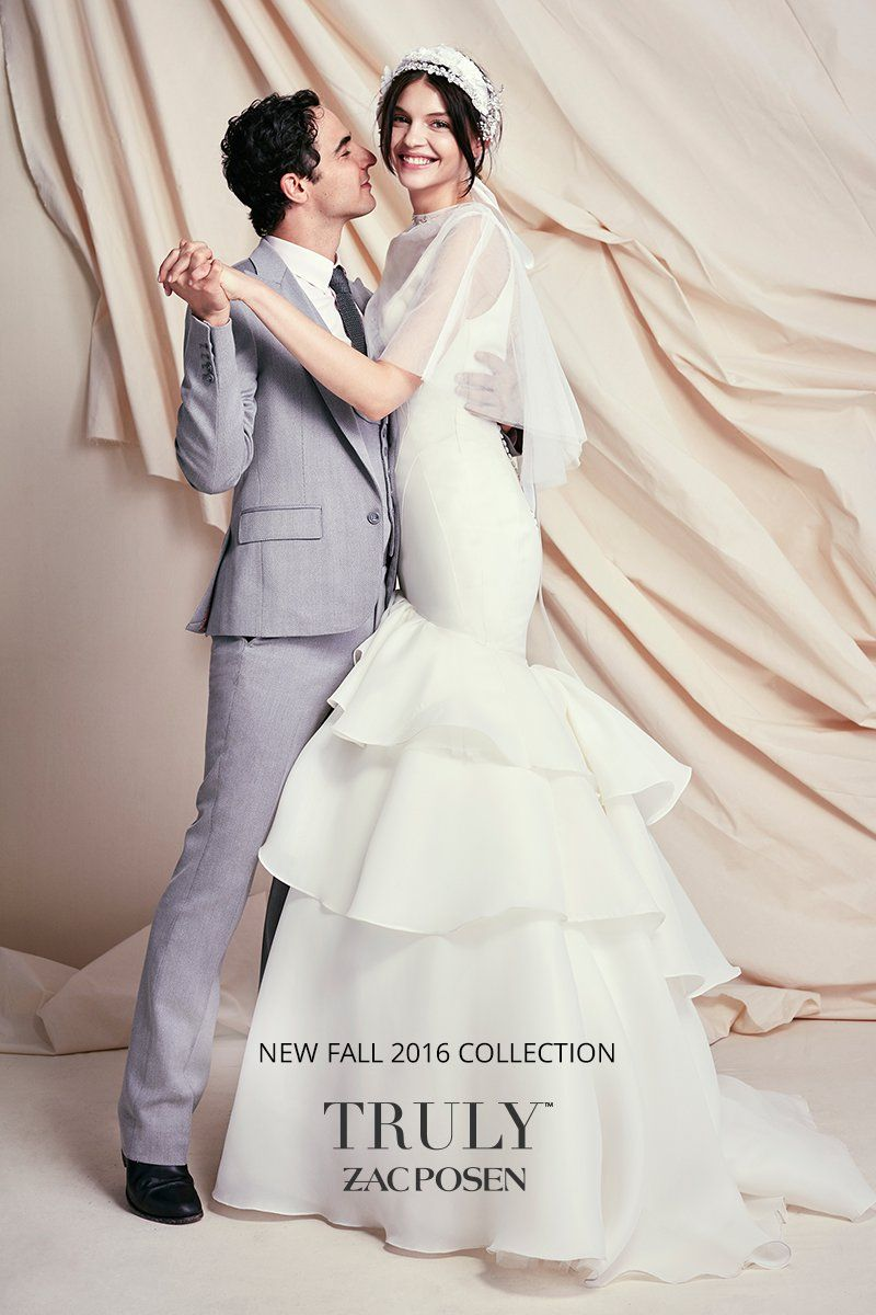 David bridal wedding dress  Brand new Truly Zac Posen designer wedding dresses have arrived at