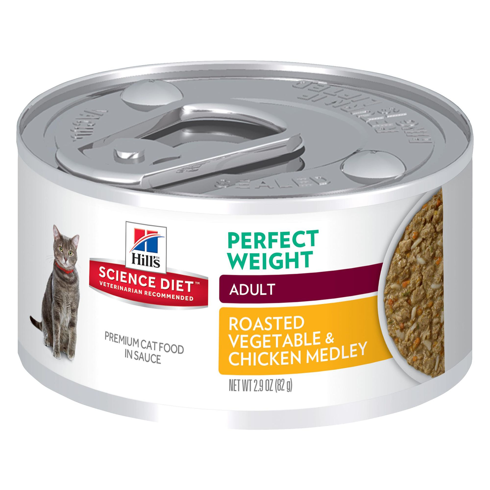 Hill S Science Diet Perfect Weight Adult Cat Food Roasted Vegetable And Chicken Medley Size 2 9 Oz Coconut Copper Gum Pork Liver Cats Including Hills Science Diet Science Diet Canned Cat Food