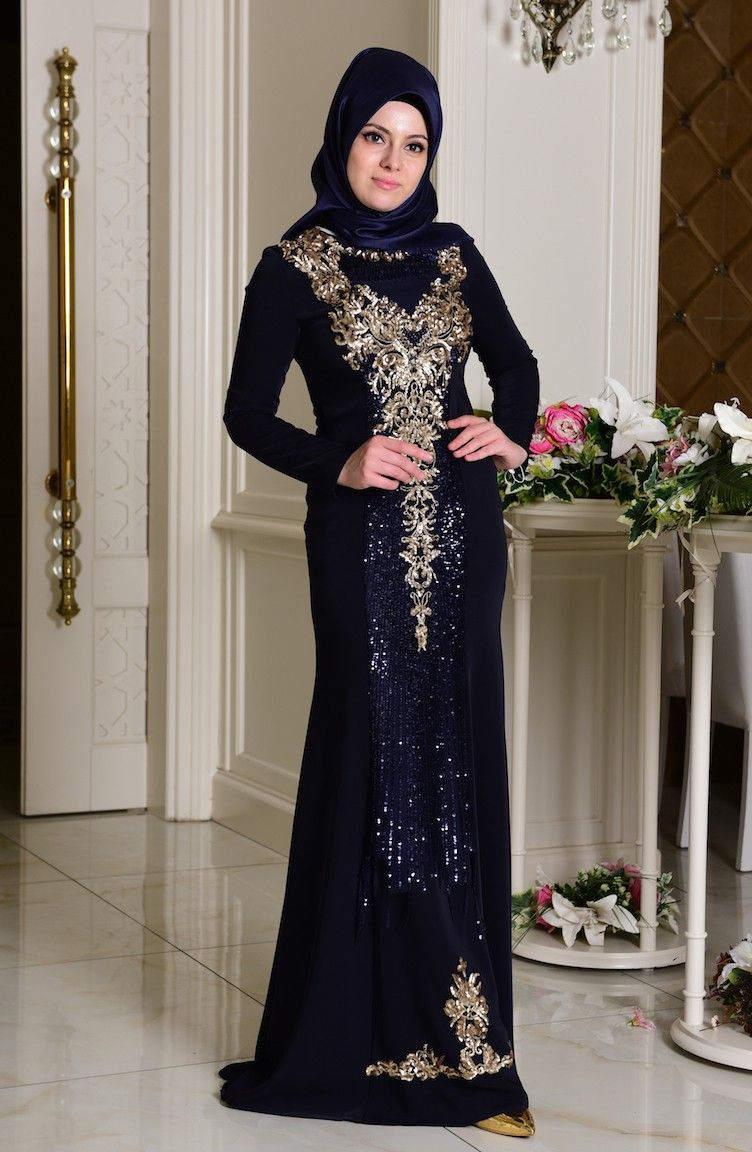 65fa75cfa1217 Sefamerve Şık Tesettür Payetli Abiye Elbise Modelleri | Tesettür in ...