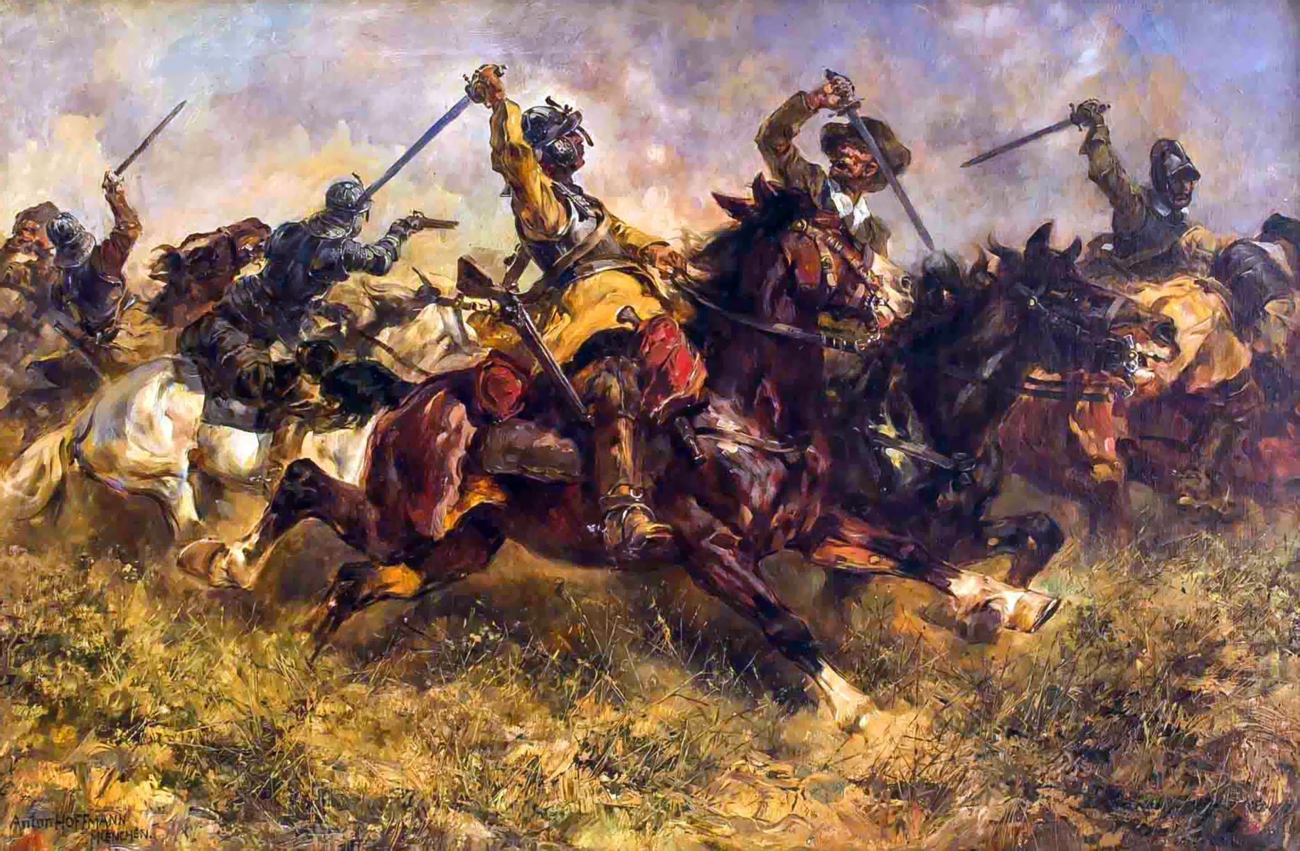 Cavalry Battle During The Thirty Years War 16th
