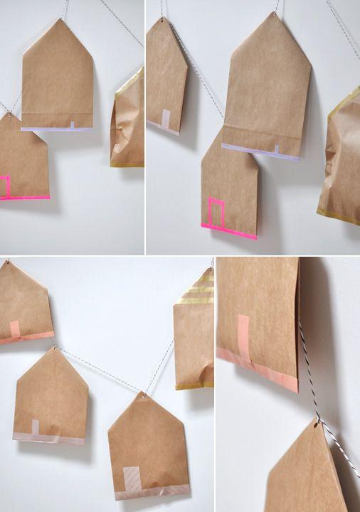 Paper bag advent calendar falalalala Pinterest Advent