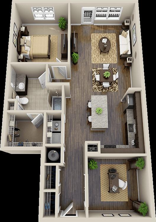 Floor Plans - One Bedroom переделка гаража или подвала под жильё