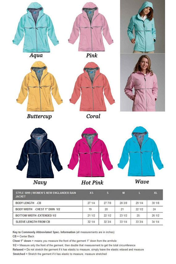 THIS LISTING IS FOR A FULLZIP MONOGRAMMED RAIN JACKET W / HOOD AND CHEST MONOGRAM  Wind & waterproof New Englander Polyurethane bonded to a