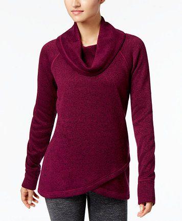 Ideology Cowl-Neck Pullover, Created for Macy's | macys.com XL plum