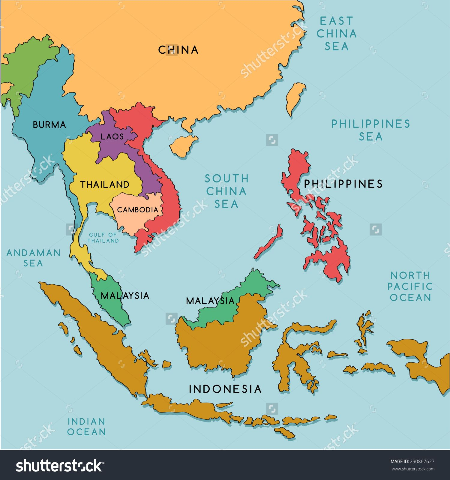 Political Map Of Southeast Asia