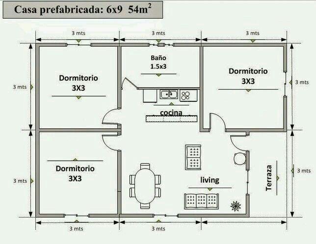 Pin De Alfonso Marin Em Casas Pequeñas Plantas De Casas Projetos De Casas Simples Projetos De Casas Pequenas