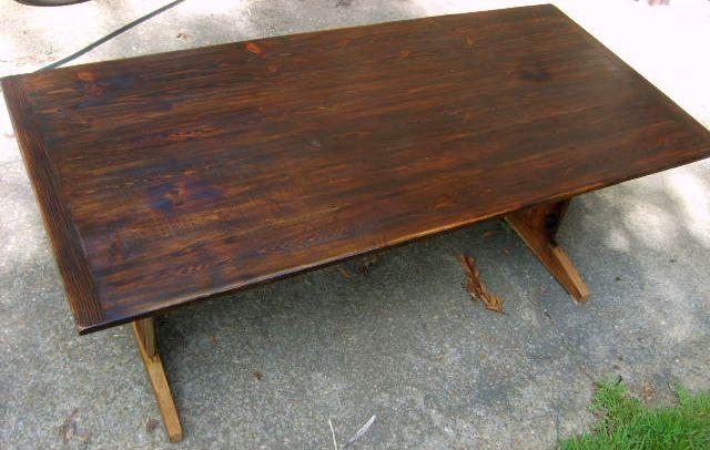 Strange Dark Stain On Heart Pine Table Top Our New Home Table Interior Design Ideas Lukepblogthenellocom