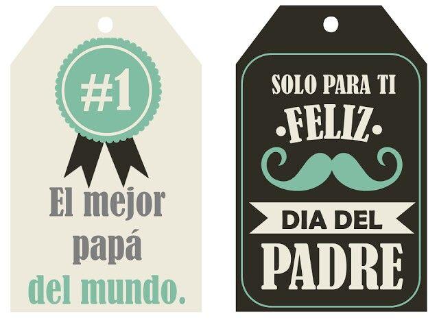 Etiquetas Para El Dia Del Padre Http Tuimaginaycrea Blogspot Mx
