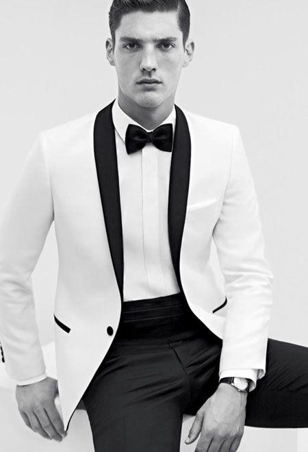 Beyaz Smokin Smokin Moda Stilleri Erkek Moda