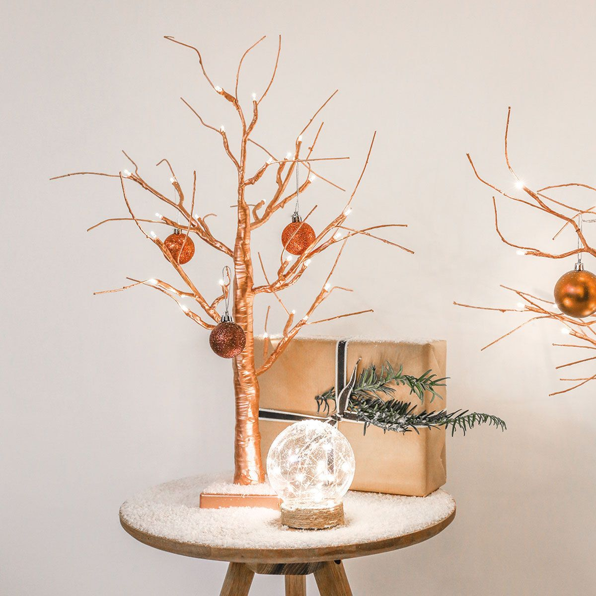2ft Copper Battery Twig Tree This Unique And Stylish 2ft Copper Tree Can Be Used In An Array Of Home Copper Christmas Twig Christmas Tree Twig Tree