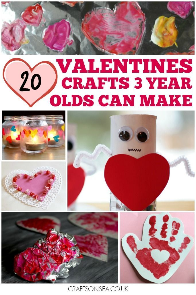 20 Valentines Day Crafts For 3 Year Olds Toddler