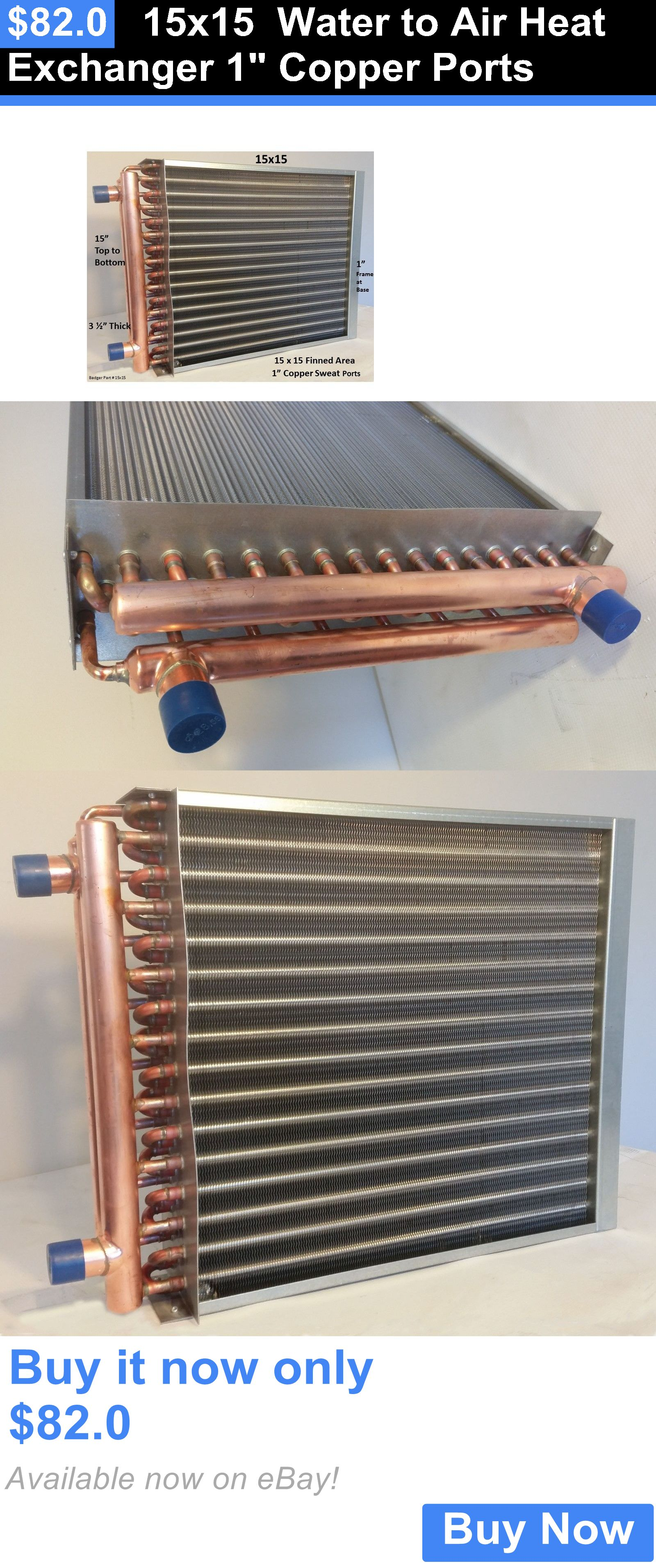 materials 15X15 Water To Air Heat Exchanger 1 Copper