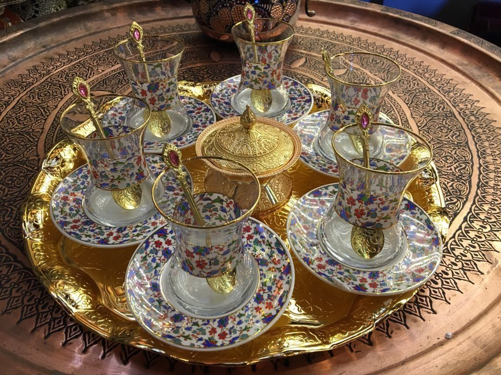 Medium Of Turkish Tea Set