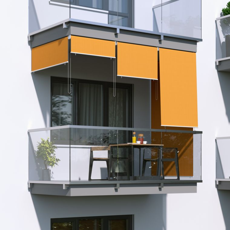 JAROLIFT Außenrollo / Senkrechtmarkise 240 x 240cm, orange