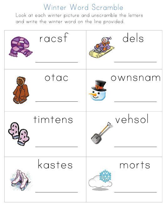 Winter Worksheets from All Kids Network - - Pinned by #PediaStaff ...