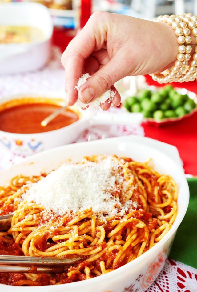 Cómo Hacer El Mejor Espagueti Con Salsa Roja Espaguetis Con Tomate Salsa Para Espagueti Salsa Roja Receta