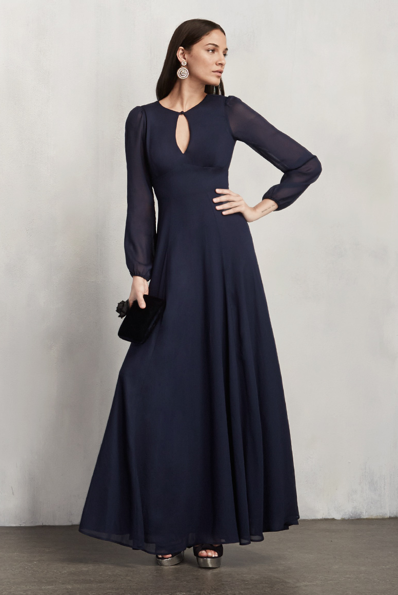 33 stylish bridesmaid dresses out there now navy blue gown blue 33 stylish bridesmaid dresses out there now ombrellifo Gallery