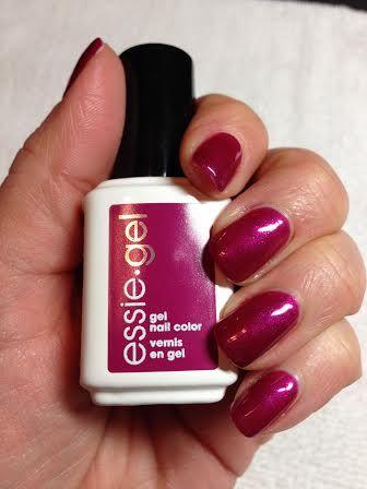 Essie Gel Polish Pole Dancing Nail Jamaica Me Crazy Beautiful Berry With Shimmery Fuschia Tones