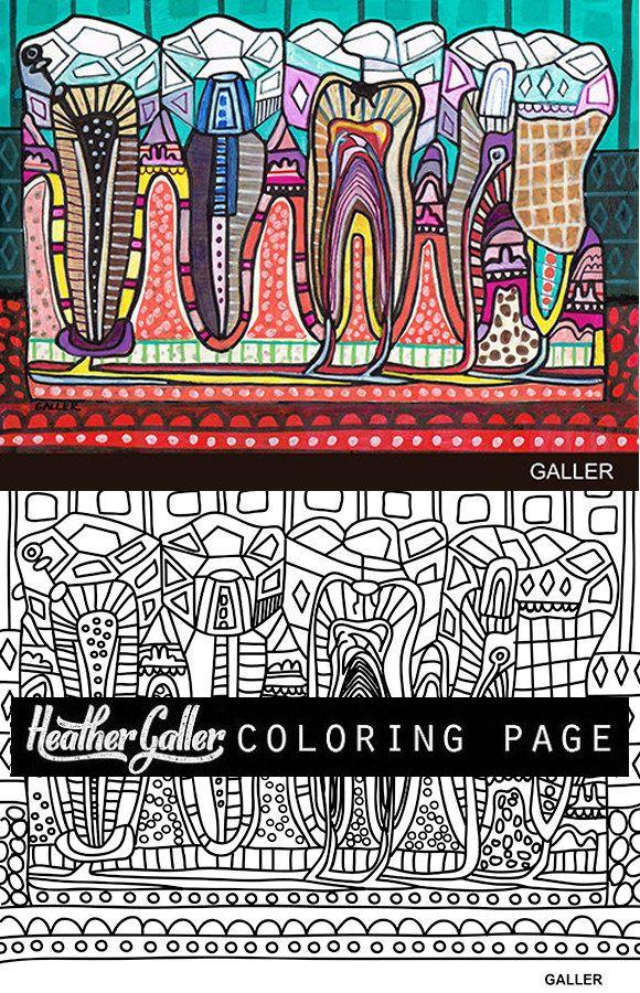 Bonito Libro Para Colorear De Anatomía Dental Colección - Páginas ...