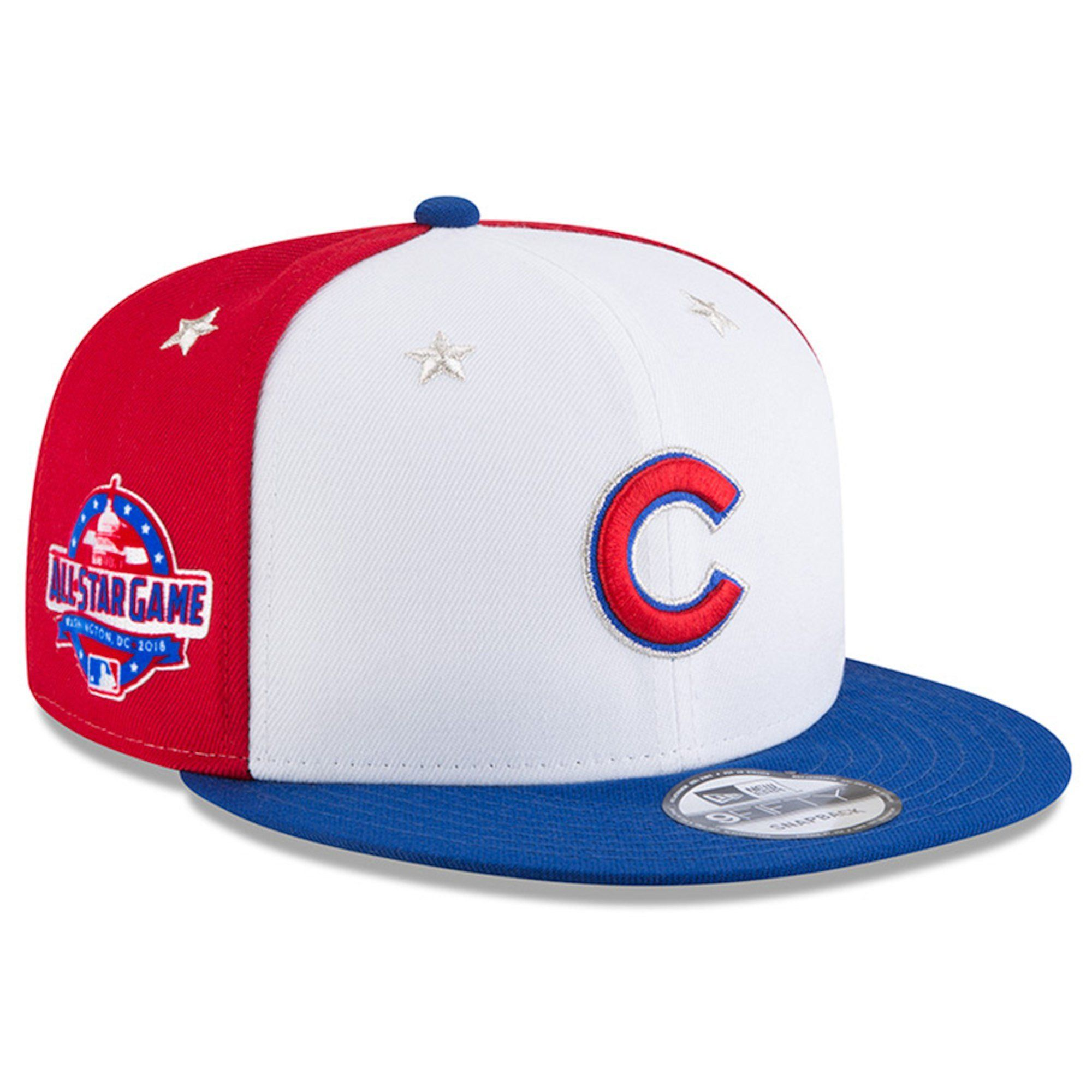 9c85d028540 Chicago Cubs White Royal 2018 MLB All-Star Game 9FIFTY Snapback Adjustable  Hat By New Era