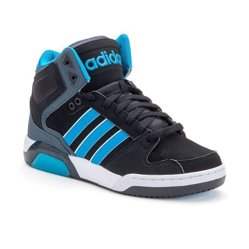 Discount adidas BB9Tis Men's Mid-Top Basketball Shoes Black Blue