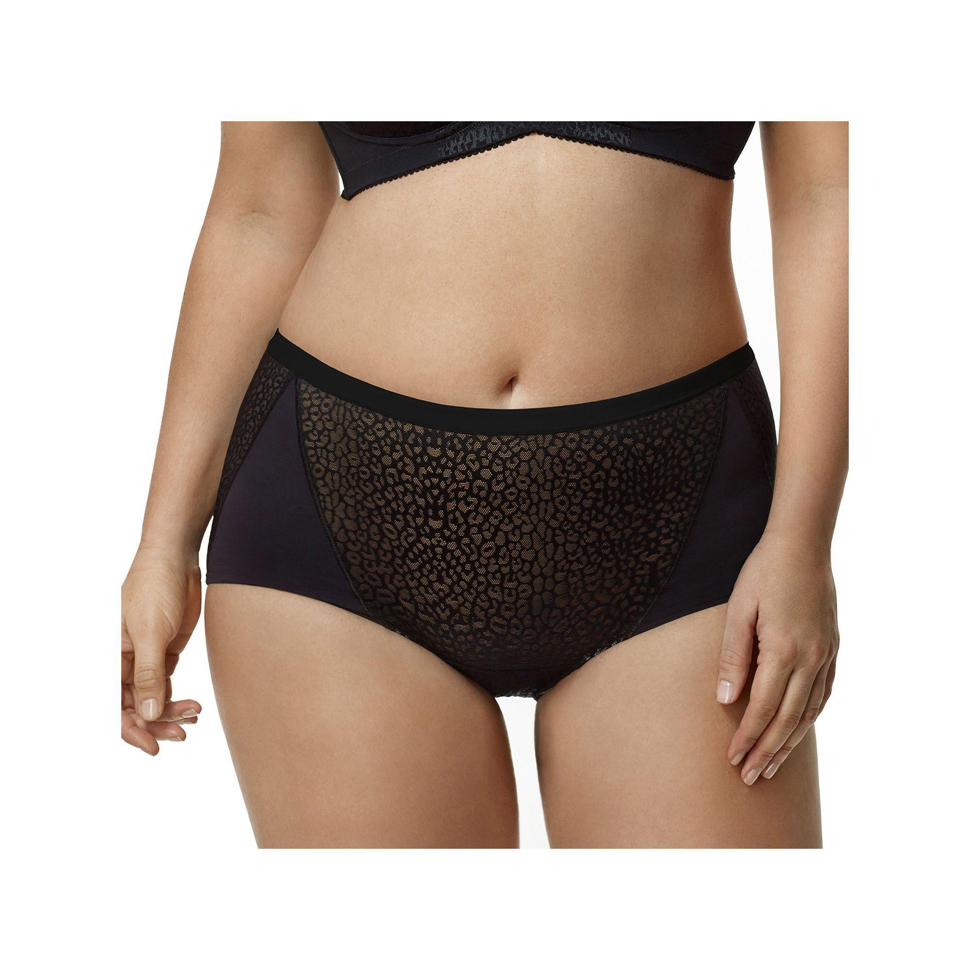 Plus Size Elila Leopard Microfiber Brief Panty 3201, Women's, Size: 5XL,  Beige Oth