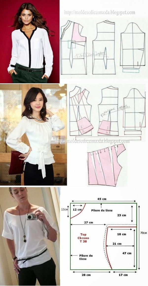 как сшить свободную блузку пошагово с фото