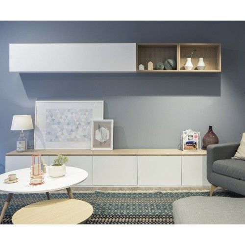 Kenay Home. Trend Salón blanco/roble | Decoracion de salon ...