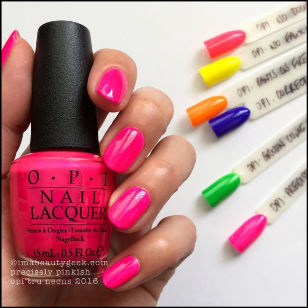 Opi Precisely Pinkish Tru Neons 2016 Nailsnail Manicurenail