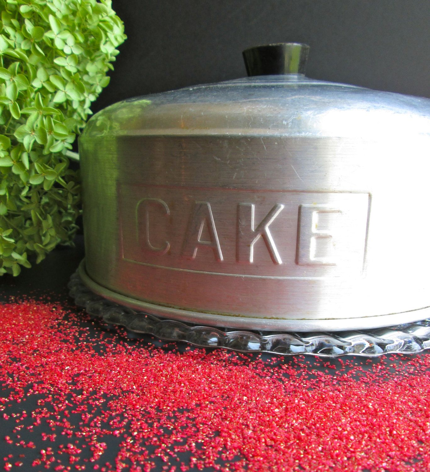 farmhouse cake stand with lid